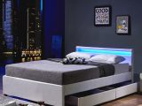 Led Bett Nube Mit Schubladen 140 X 200 Wei Real intended for dimensions 1024 X 1024